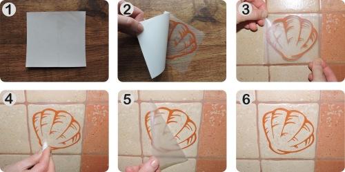 Naklejki na kafelki i płytki ceramiczne - do kuchni i łazienki - instrukcja klejenia.