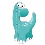 Naklejka na ścianę Miarka wzrostu dinozaur K4