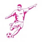 Naklejka welurowa na ścianę Piłkarz W14