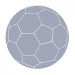 Naklejka welurowa na ścianę Piłka nożna W11