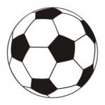 Naklejka ścienna Piłka nożna czarno-biała M25