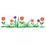 Naklejka ścienna Kwiatki na łące M3