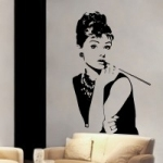 Szablon malarski ścienny Audrey Hepburn S11