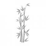 Naklejka na lustro Bambus L1