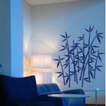 Naklejka welurowa dekoracyjna Bambusy W12