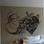 Naklejka na ścianę do sypialni Kobieta M3