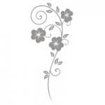 Naklejka na lustro Flora L4