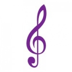 Naklejka welurowa dekoracyjna Klucz wiolinowy W6
