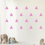 Naklejki welurowe Trójkąty do pokoju dziecka W1