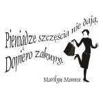 Szablon dekoracyjny cytat Marilyn Monroe S4