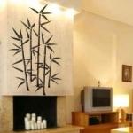 Naklejka welurowa na ścianę Bambus W11
