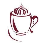 Naklejka na kafelek Kawa ze śmietanką nr K10