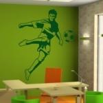 Welurowa naklejka na ścianę Piłkarz W19