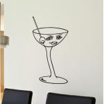 Naklejka welurowa dekoracyjna Kieliszek do martini W16