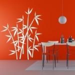 Naklejki welurowe dekoracyjne Bambusy W8
