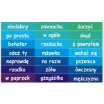 Naklejki 120x10 cm, na schody do szkoły podstawowej - piszę poprawnie, język polski nr K11