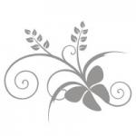 Naklejka na lustro Motyw florystyczny L14