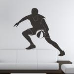 Naklejka welurowa dekoracyjna Koszykarz W6
