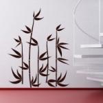 Naklejki dekoracyjne welurowe Bambusy W3