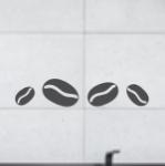 Naklejki na płytki Ziarenka kawy nr K16 - 4 sztuki w zestawie