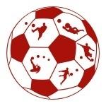 Naklejka dekoracyjna Piłka z piłkarzami M29