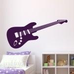 Naklejka welurowa na ścianę Gitara elektryczna W20