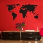 Naklejka na ścianę welurowa Mapa świata W5