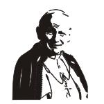Naklejka na ścianę papież Jan Paweł II M34