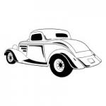 Naklejka ścienna Samochód Roadster M8