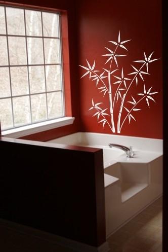 Bambusowe naklejki matowe na ścianę