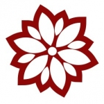 Naklejka do dekoracji płytek Kwiatek K37