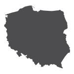 Naklejka welurowa ścienna Mapa Polski W4