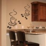Naklejki na ścianę do kuchni Dwie filiżanki kawy M5