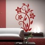 Naklejka welurowa na ścianę Flora W20
