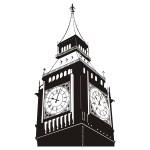 Szablon dekoracyjny Zegar Big Ben S17