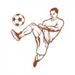 Naklejka dekoracyjna Piłkarz M33