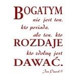 Naklejka dekoracyjna cytat Jana Pawła II M18