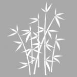 Folia na okno Motyw bambusa O2