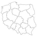 Naklejka na ścianę Mapa Polski w konturach M17