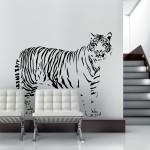Welurowa naklejka na ścianę Tygrys W6