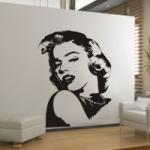 Naklejka welurowa dekoracyjna Marilyn Monroe W10