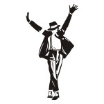 Naklejka welurowa na ścianę Michael Jackson W12