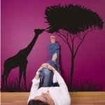 Szablon malarski Drzewo i żyrafa S23