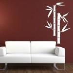 Naklejka welurowa na ścianę Bambus W13