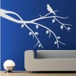 Szablon dekoracyjny Gałązka z ptaszkiem S25