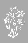 Naklejka na szybę Kwiat O11