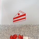 Naklejka welurowa na ścianę Tort W9