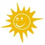 Naklejka dekoracyjna Uśmiechnięte słoneczko M13