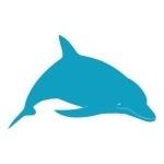 Naklejka na kafelki Delfinek K15