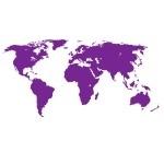 Naklejka na ścianę Najmniejsza mapa świata M5